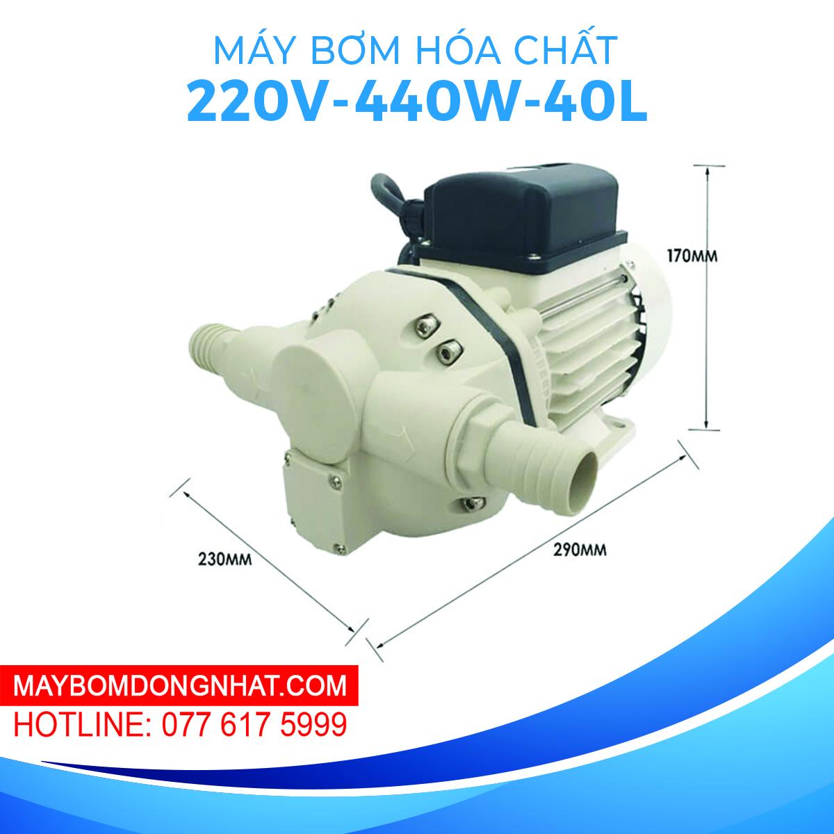 Máy bơm hóa chất SingFlo FL-540 220V 440W 40L
