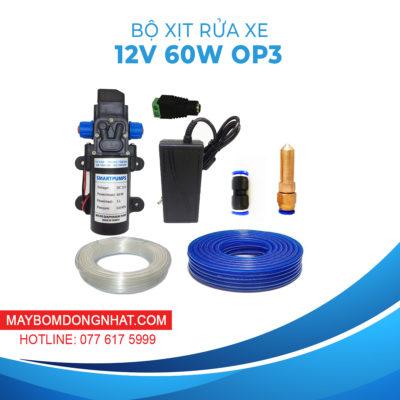 Bộ rửa xe mini 12V 60W Béc xịt – Option 3
