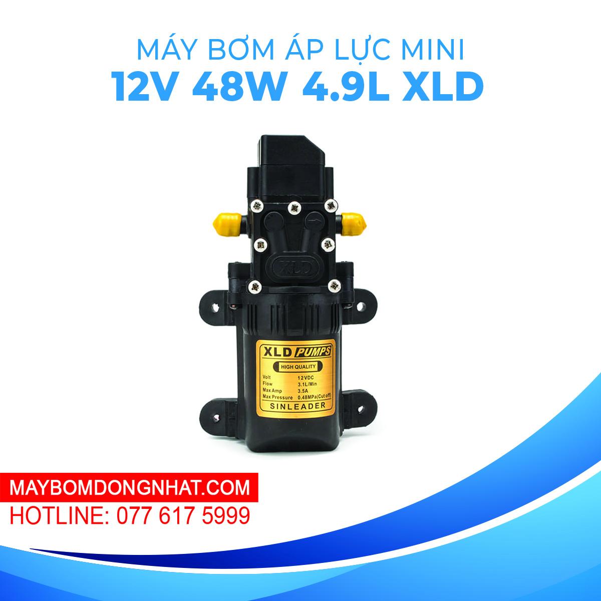 Máy Bơm Nước Mini Áp Lực XLD Pumps 12V 48W 4.9L