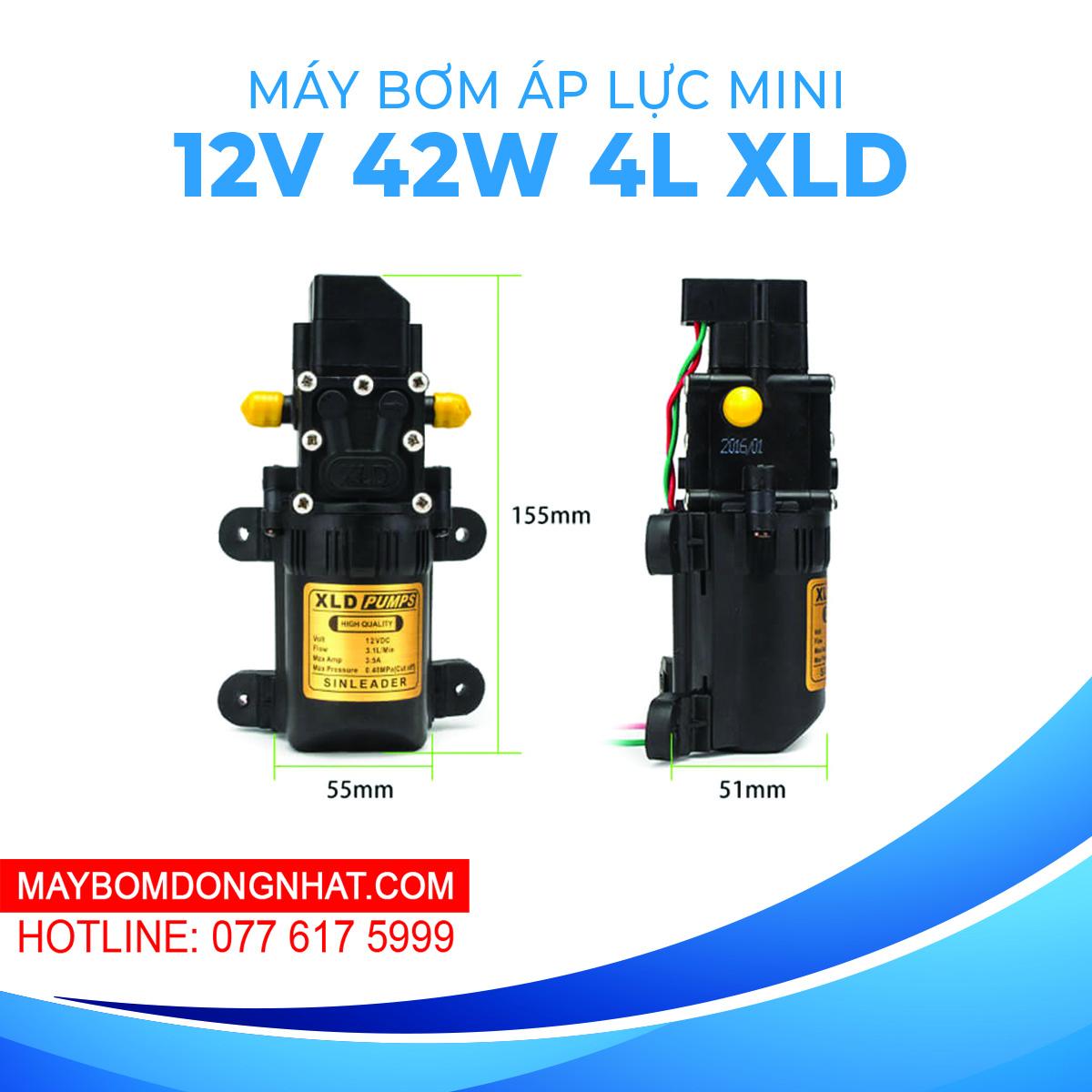 Máy Bơm Nước Mini Áp Lực XLD Pumps 12V 42W 4L