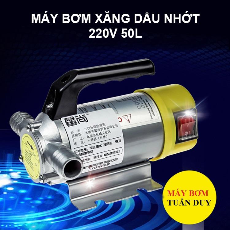 Máy bơm xăng dầu nhớt Inox 220V 200W 50L