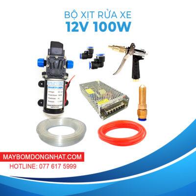 Bộ Rửa Xe Mini 12V 100W Súng Áp Lực