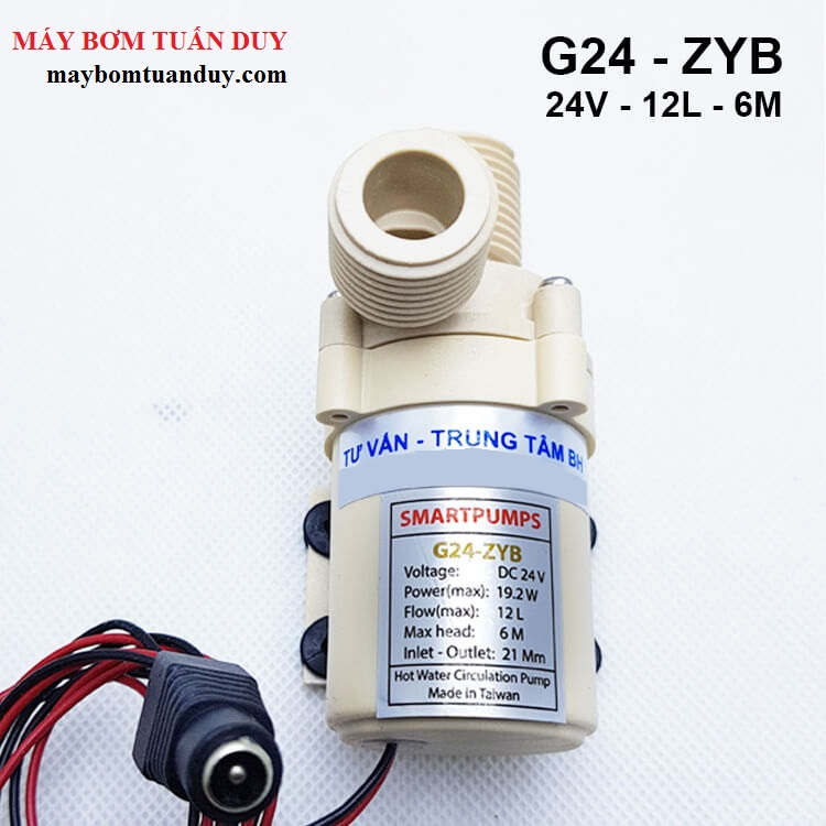 Máy bơm nước nóng mini SmartPumps G24-ZYB 24V 12L