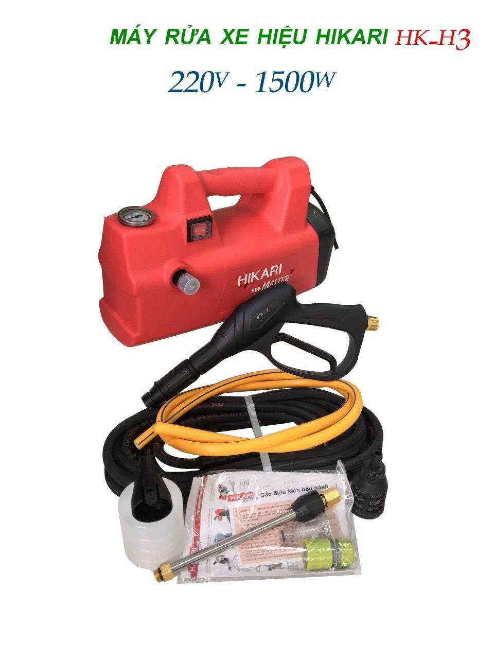 Máy rửa xe gia đình áp lực cao HIKARI HK-H3 220V 1500W