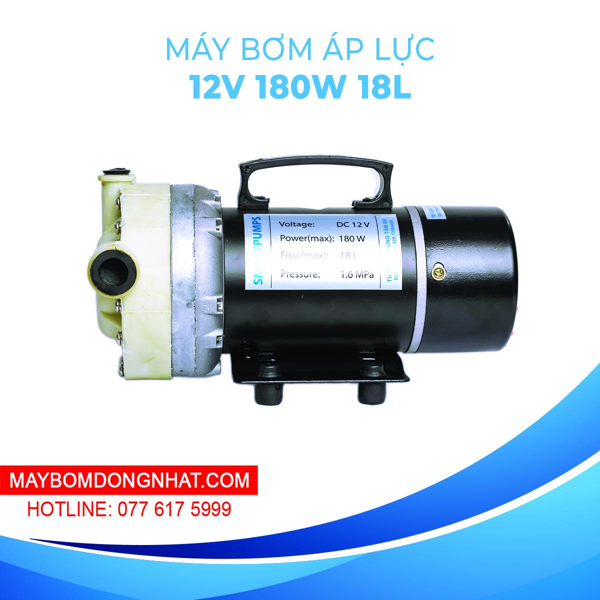 Máy Bơm Áp Lực Mini 12V/ 24V 180W 18L/P