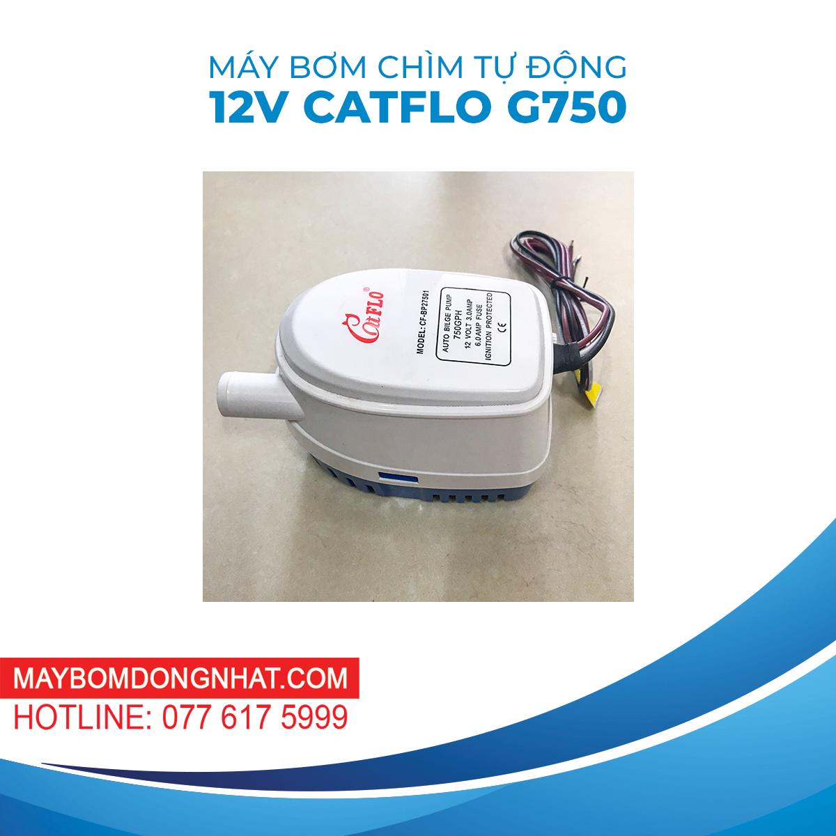 Máy Bơm Chìm Tự Động 12V 36W Catflo G750