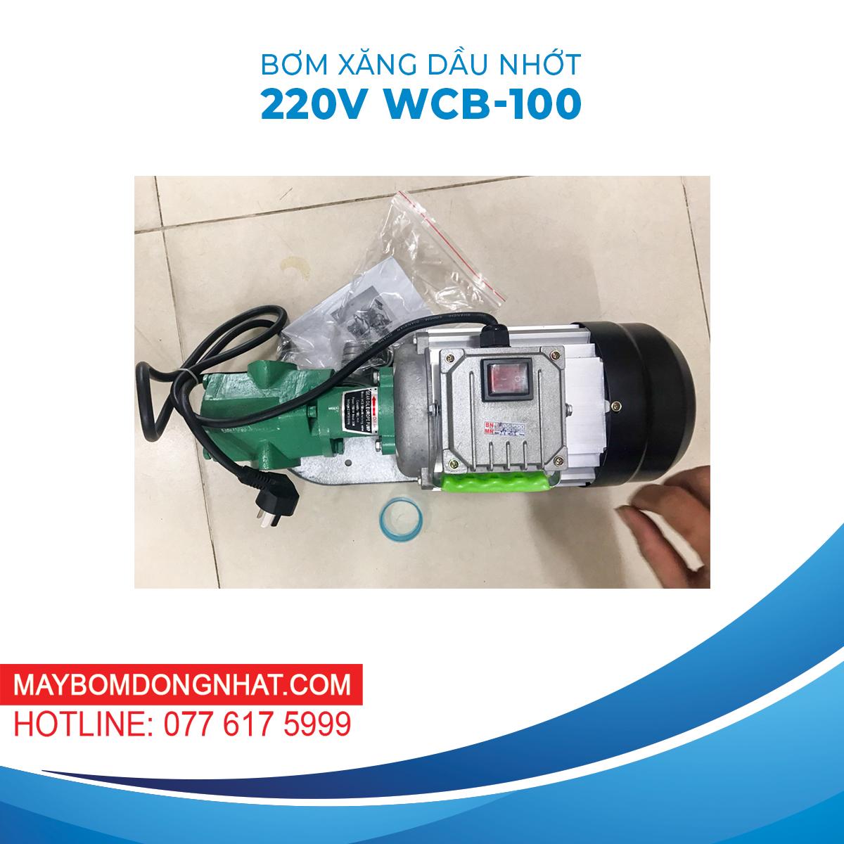 Máy Bơm Dầu Nhớt Bánh Răng 220V 1100W 100LP