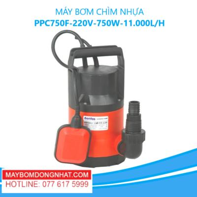 MÁY BƠM CHÌM NHỰA- PPC750F -220V-750W-11.000L/H(CÓ PHAO)