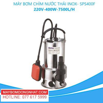MÁY BƠM CHÌM NƯỚC THẢI INOX- SPS400F -220V-400W-7500L/H(CÓ PHAO)