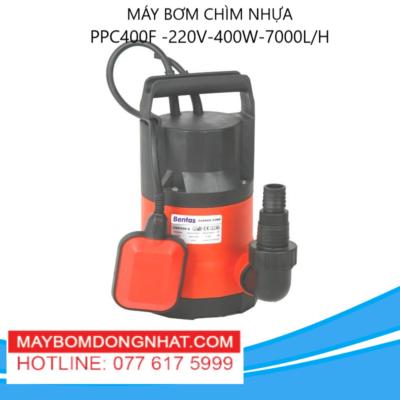 MÁY BƠM CHÌM NHỰA- PPC400F -220V-400W-7000L/H(CÓ PHAO)