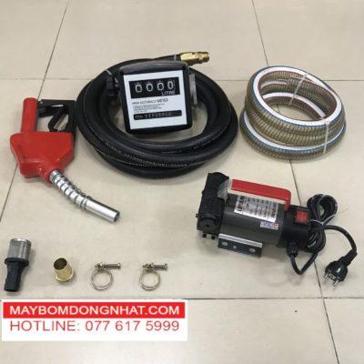 Bộ máy bơm xăng dầu nhớt 220V-150w-40l/P(Có đồng hồ đo lưu lượng)
