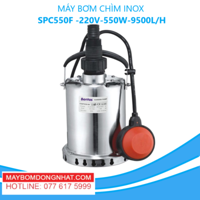 MÁY BƠM CHÌM INOX- SPC550F -220V-550W-9500L/H(CÓ PHAO)