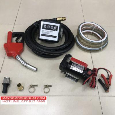 Bộ máy bơm xăng dầu nhớt 12V-150W-40L/P(Có đồng hồ đo lưu lượng)