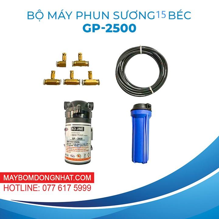 TRỌN BỘ PHUN SƯƠNG 15 BÉC GP-2500