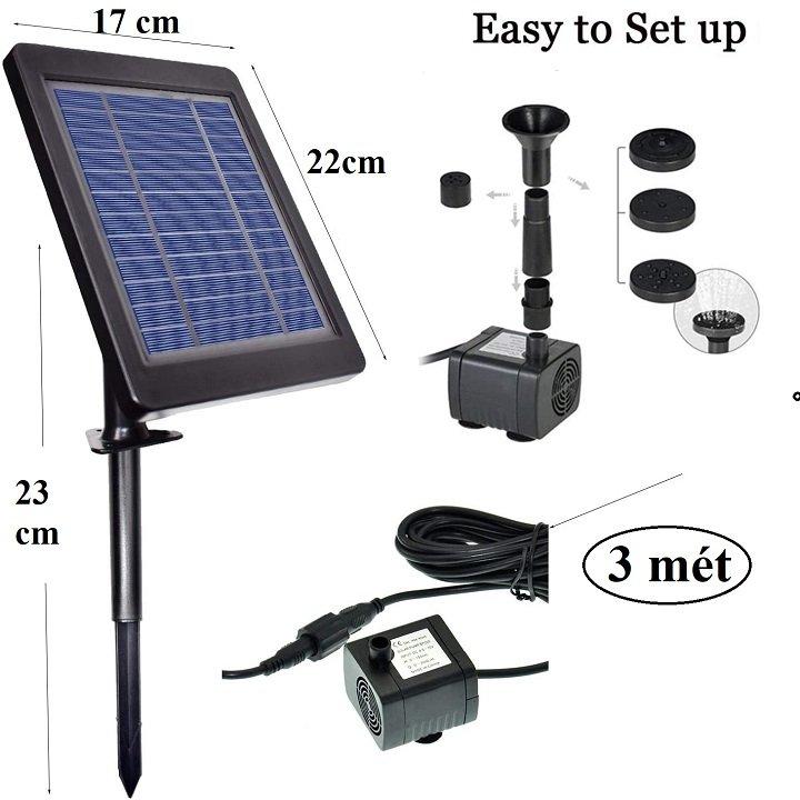 Máy bơm chìm dùng năng lượng mặt trời 6V- 3.5W – 150L